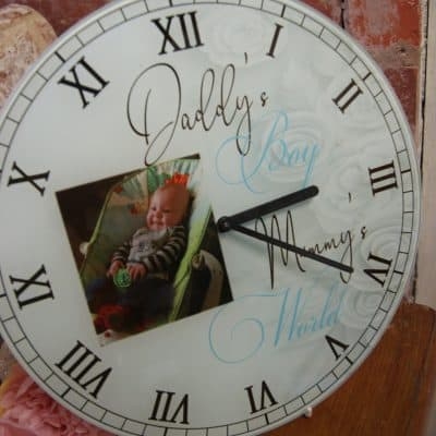 Personalised Daddy's Girl Mummy's World Clock