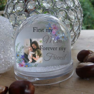 Personalised First My Mum Forever My Friend Snow Globe