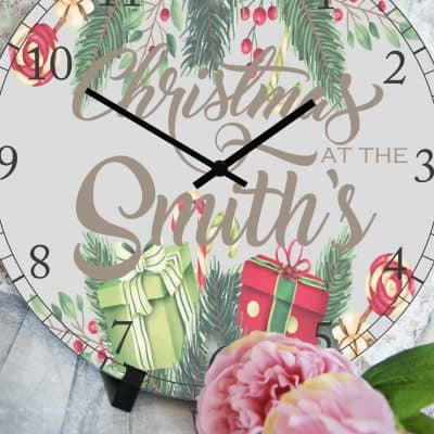 Personalised Family Christmas Clock
