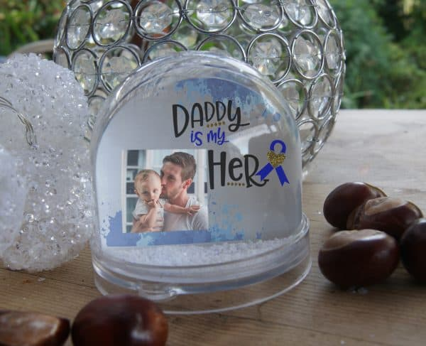 Personalised Daddy Is My Hero Snow Globe