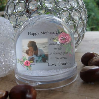 Personalised Happy Mothers Day Snow Globe