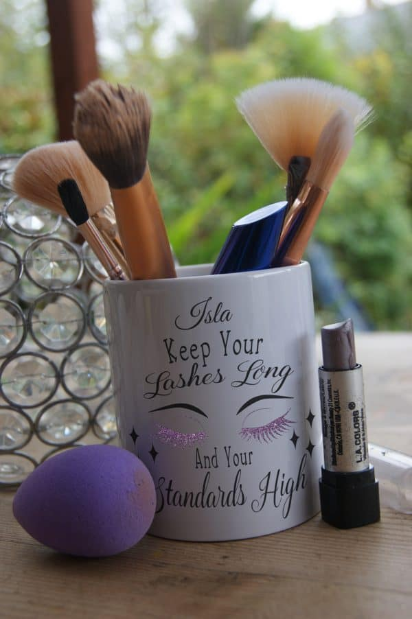 Personalised Keep Your Lashes Long And Your Standards High Ceramic Pot