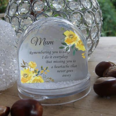 Personalised Remembering You Is Easy Snow Globe