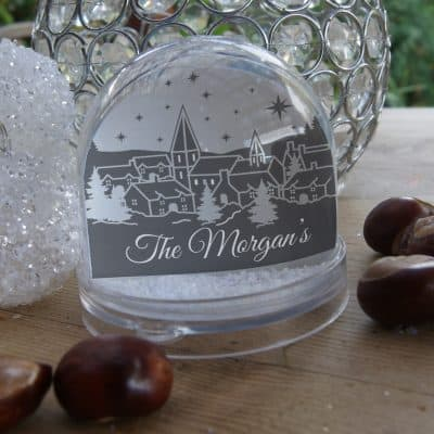 Personalised Christmas Scene Family Snow Globe