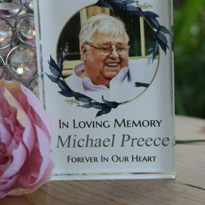 Personalised In Loving Memory Photo Block