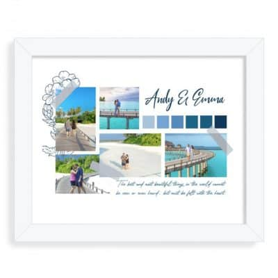 Personalised Couples Blue Mood Board Design