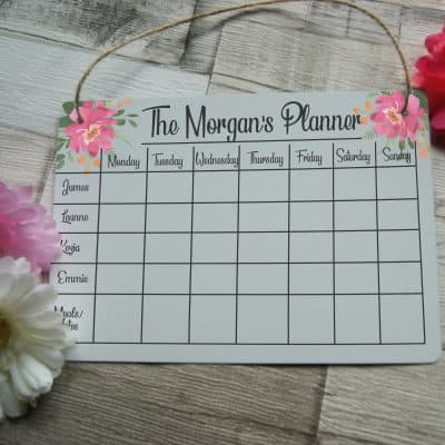 Personalised Family Planner A4 Hanging Sign