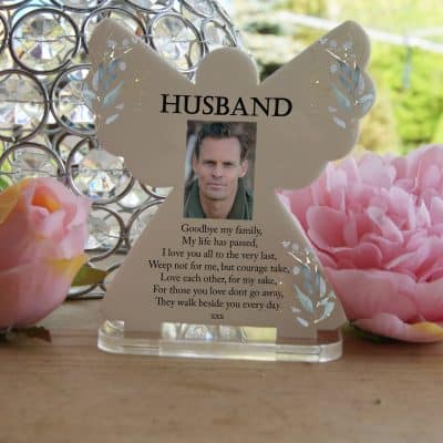 Personalised Goodbye My Family Tea Light Angel
