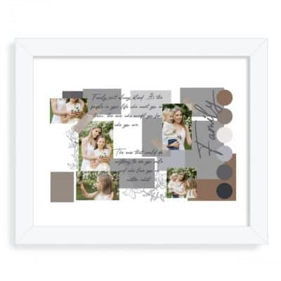 Personalised Family Brown Mood Board Design