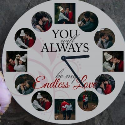 Personalised Endless Love Clock