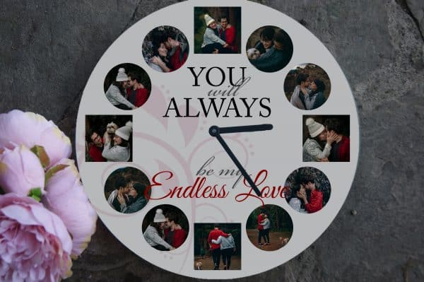Personalised Endless Love Clock