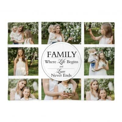 Personalised Family Polor Fleece Blanket