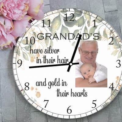 Personalised Grandads Have Silver In Their Hair Clock