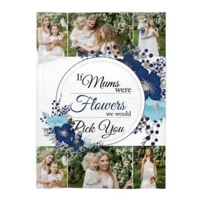 Personalised If Mums Were Flowers Polor Fleece Blanket