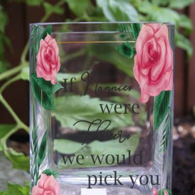 Personalised If Nannies Were Flowers Tank Vase
