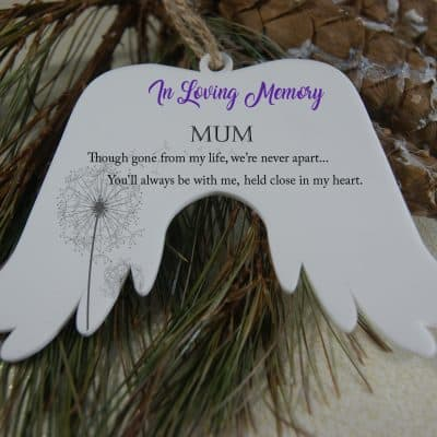 Personalised In Loving Memory Angel Wings