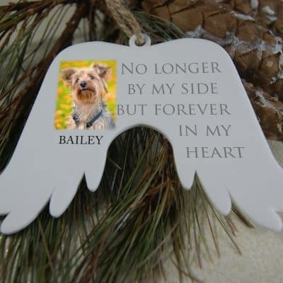 Personalised No Longer By My Side Angel Wings