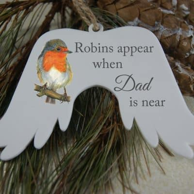 Personalised Robins Appear Angel Wings