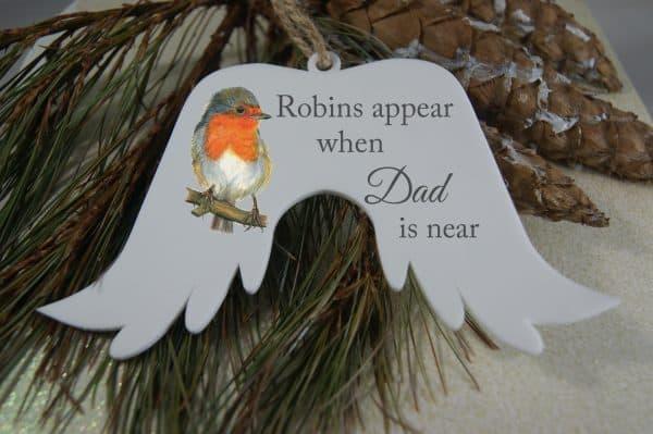 Personalised Robins Appear Angel Wings