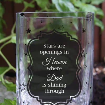 Personalised Stars Are Openings In Heaven Tank Vase