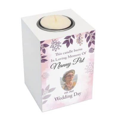 Personalised This Candle Burns In Memory Of Luxury Tealight Holder