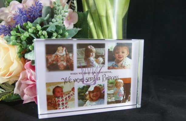 Personalised We Were Sent A Princess Photo Block