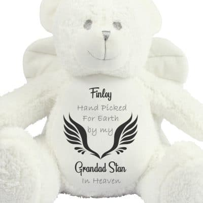 Personalised Handpicked For Earth Angel Bear