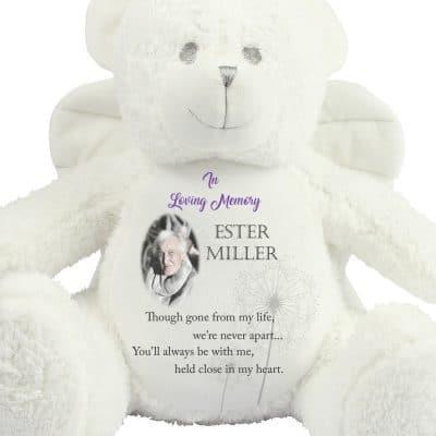 Personalised In Loving Memory Angel Bear