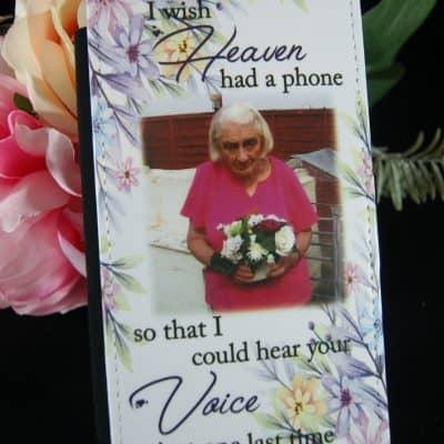 Personalised I Wish Heaven Had A Phone Phone Case