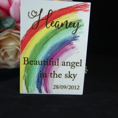 Personalised Angel In The Sky Luxury Tealight Holder