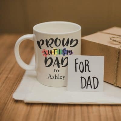 Personalised Proud Autism Dad Mug