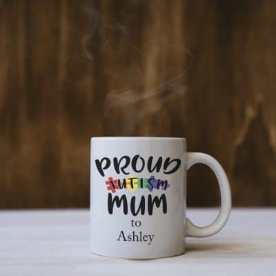 Personalised Proud Autism Mum Mug