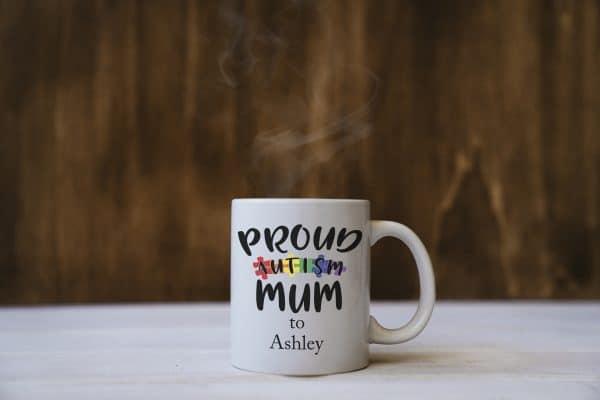 Personalised Proud Autism Mum Mug