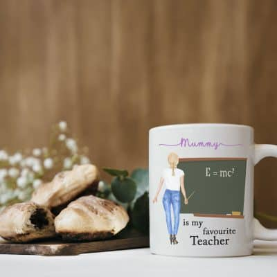 Personalised Mummy Is My Favourite Teacher Mug