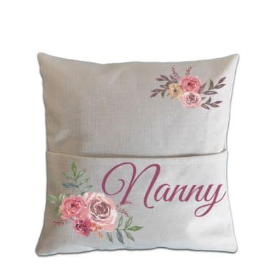 Personalised Floral Pocket Cushion