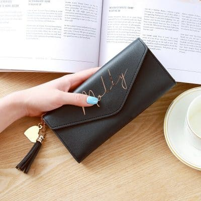Personalised Signature Name Clutch Purse