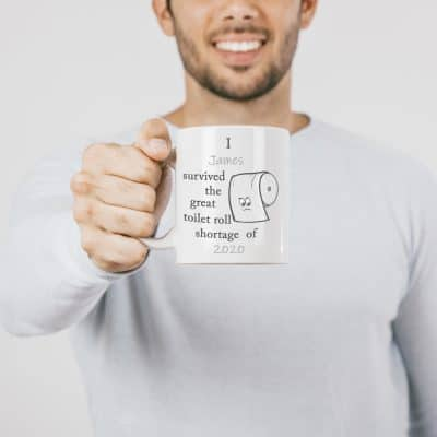 Personalised Toilet Roll Shortage Mug