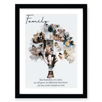 Family Tree Photo Collage Design