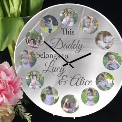 Personalised This Daddy Belongs To Clock