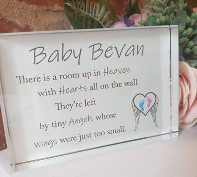 Personalised Tiny Angels Crystal Block
