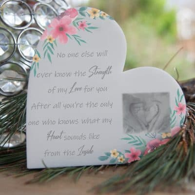 Personalised No One Will Every Know Freestanding Acrylic Heart