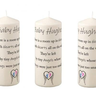 Personalised Tiny Angels Pillar Candle