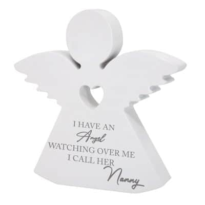 Personalised I Have An Angel Wooden Angel