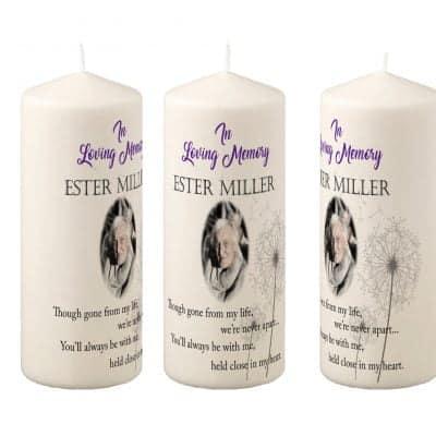 Personalised In Loving Memory Pillar Candle