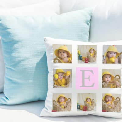 Personalised Colour Initial Cushion