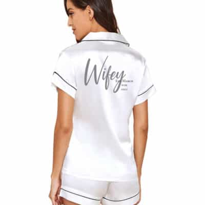 Personalised Wifey Est. Satin PJ Set