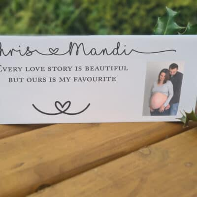 Personalised Every Love Story Acrylic Mantel Block
