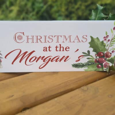 Personalised Christmas Gonk Acrylic Mantel Block