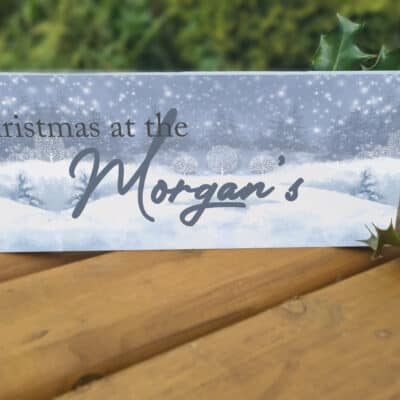 Personalised Christmas At The Acrylic Mantel Block