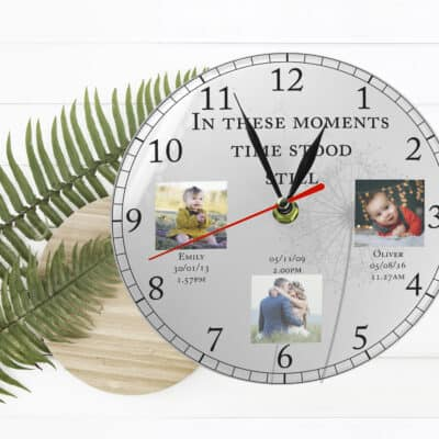 Personalised In These Moments Clock